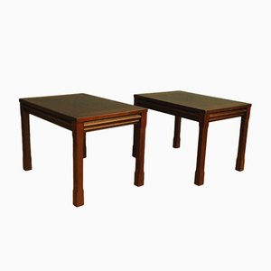 Vintage Mahogany Side Table, Set of 2