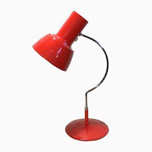 Lampe de Bureau Rouge par Josef Hurka pour Napako, 1960s