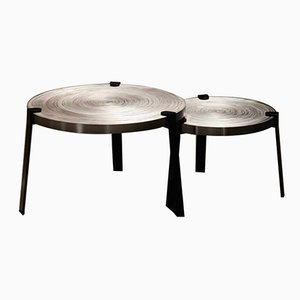 Tavolini da caffè Remetaled di Tim Vanlier per Matter of Stuff, Set of 2