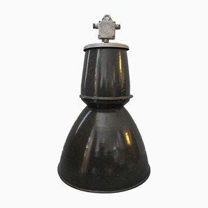 Große Tschechische Industrielle Enamel Deckenlampe, 1960er
