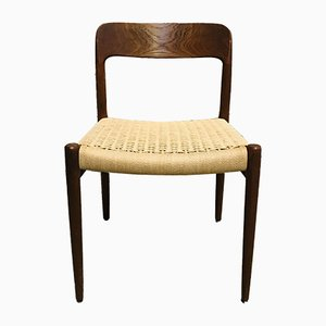Mid-Century No. 75 Dining Chairs by N.O. Møller for J.L. Møllers, Set of 6