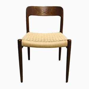 Mid-Century Nr. 75 Esszimmerstühle von N.O. Møller für J.L. Møllers, 6er Set