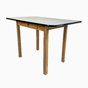 Table en Formica Gris et en Bois, 1960s
