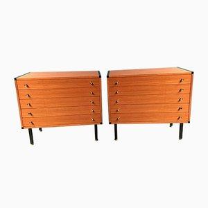 Vintage Kommoden aus Holz, 2er Set