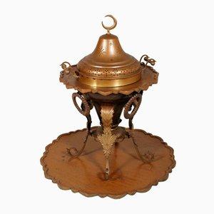 Antique Embossed Brass & Bronze Heating Brazier