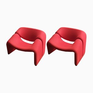F598 Groovy Armchairs by Pierre Paulin for Artifort, 1980s, Set of 2