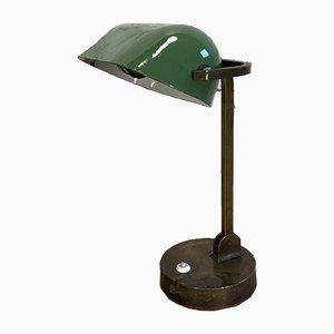 Grüne Tischlampe aus Emaille, 1930er