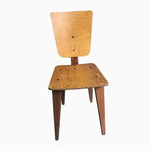 Vintage Wood Chairs by André Sornay, Set of 6