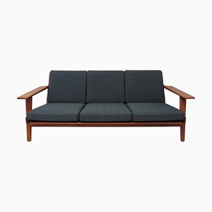 Model GE 290 Three-Seater Teak Sofa by Hans J. Wegner for Getama, 1960s