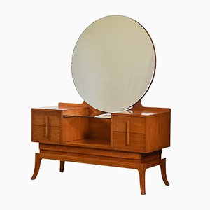 Art Deco British Colonial Teak Dressing Table, 1930s