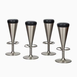 Vintage Bar Stools by Leo Thafvelin, 1960, Set of 4