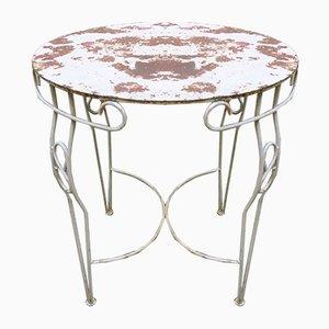 Mid-Century Gartentisch aus lackiertem Metall