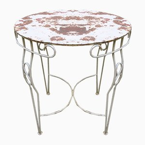 Mid-Century Metal Garden Table