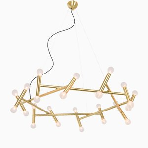 Helios Brass Chandelier by Sander van Eyck for Cocoon Collectables