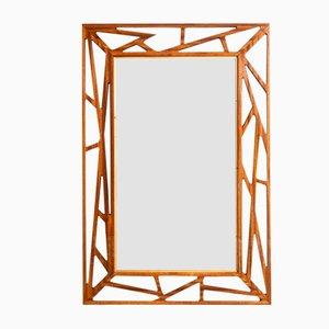 Specchio in mogano di Yngve Ekström per Edenspegel, anni '50