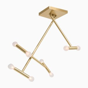 Helios Brushed Brass Ceiling Light by Sander van Eyck for Cocoon Collectables