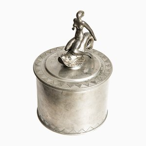 Vintage Pewter Jar from Svenskt Tenn, 1928