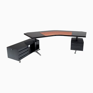 Boomerang Desk by Osvaldo Borsani for Tecno, 1970s