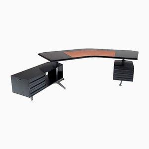 Boomerang Schreibtisch von Osvaldo Borsani für Tecno, 1970er
