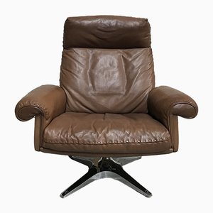 Mid-Century DS 31 High-Back Swivel Lounge Chair from de Sede, 1970s