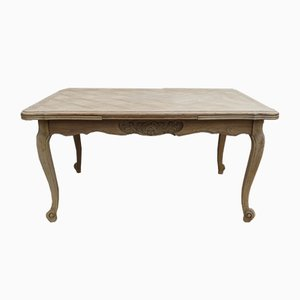 Bleached Oak Extendable Dining Table, 1940s