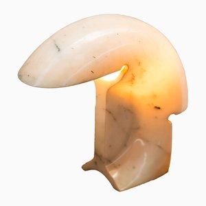 Lámpara de mesa Mid-Century de mármol biagio de Tobia Scarpa para Flos