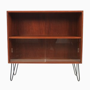 Danish Teak & Glass Cabinet with Bookcase, 1960s