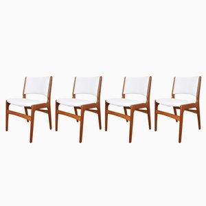 Dänische Mid-Century Modell 89 Stühle von Erik Buch für Anderstrup Møbelfabrik, 1960er, 4er Set
