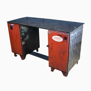 Industrial Steel Workbench, 1950s