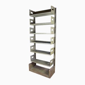 Large Industrial Steel Shelf, 1950s
