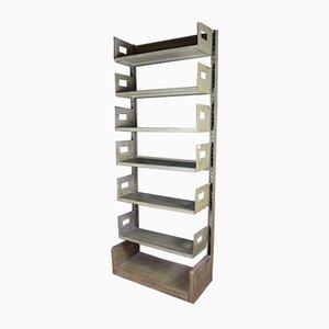 Large Industrial Steel Shelf, 1950s