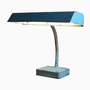Lámpara de escritorio industrial vintage, años 60