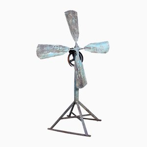 Vintage Industrial Hand-Operated Fan, 1920s