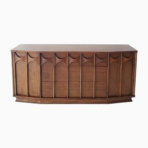 Large Walnut Perspecta Credenza from Kent Coffey, 1960s