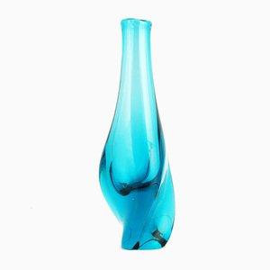 Jarrón Neodymium de vidrio de M. Klinger para Železny Brod, años 60