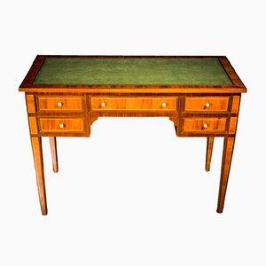Louis XVI Style Italian Inlaid Walnut Desk, 1890s