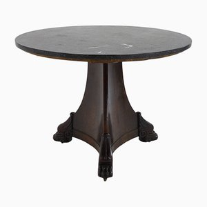 Large 19th Century French Mahogany & Marble Centre Table