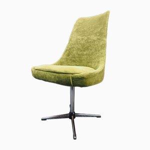 Vintage Green Swivel Lounge Chair, 1980s