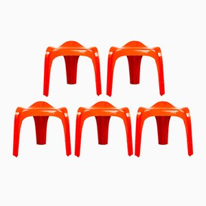 Stools by Alexander Begge for Casala, 1970s, Set of 5