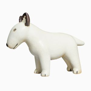 Ceramic Bullterrier by Lisa Larson for Gustavsberg, 1990s