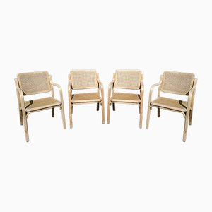 Caned Chairs, 1960s, Set of 4