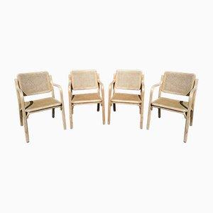 Sedie in canna, anni '60, set di 4