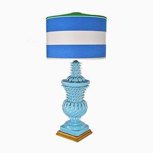 Blaue spanische Tischlampe in Ananas-Optik von Bondia Ceramicas, 1980er