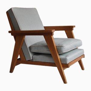 French Oak Armchair, 1950s