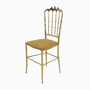 Italian Chiavari Brass Chair, 1950s