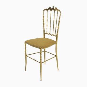 Italienischer Chiavari Stuhl aus Messing, 1950er
