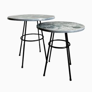 Capperi-Amaaro Ceramic Coffee Tables by Capperidicasa, Set of 2