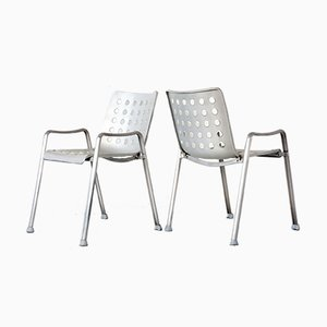 Swiss Landi Chairs by Hans Coray for Mewa, 1970s, Set of 6