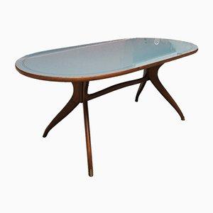 Tavolo da pranzo ovale, anni '50