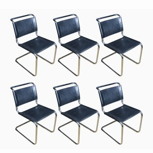 Vintage Model S33 Chairs by Mart Stam for Thonet, 1970s, Set of 6